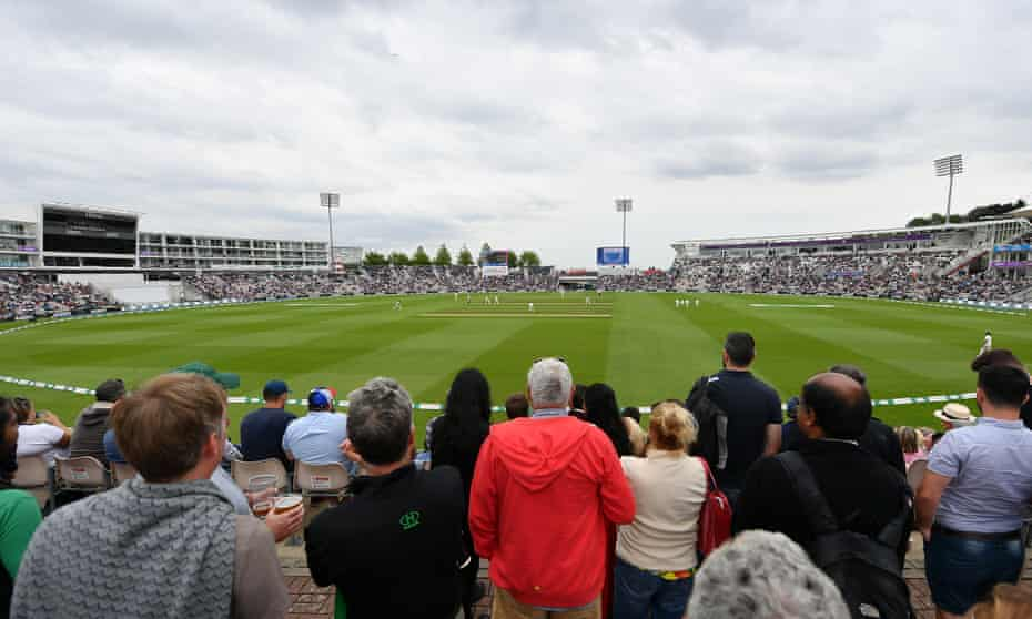 Fans watch the first day of play during India's previous visit to the Ageas Bowl in August 2018, a match England won.