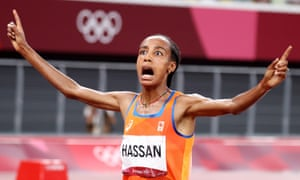 Sifan Hassan wins 5,000m gold for the Netherlands.