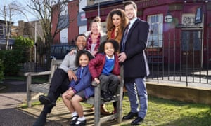 The Atkins family, Albert Square's newest residents on EastEnders.
