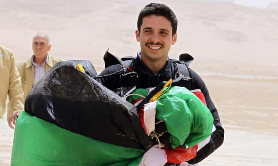 Prince Hamzah bin Hussein in the Wadi Rum desert.