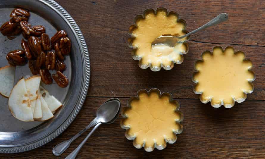 Angela Kim's maple buttermilk pudding.