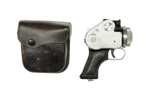 Another Japanese camera disguised as a gun. Or at least halg of one. The Mamiya Pistol Camera from 1954 comes in a leather holster and can take a portrait of a man at ten paces. Only 250 were made for police training purposes.
