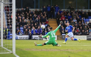 Durrell scores the equaliser...