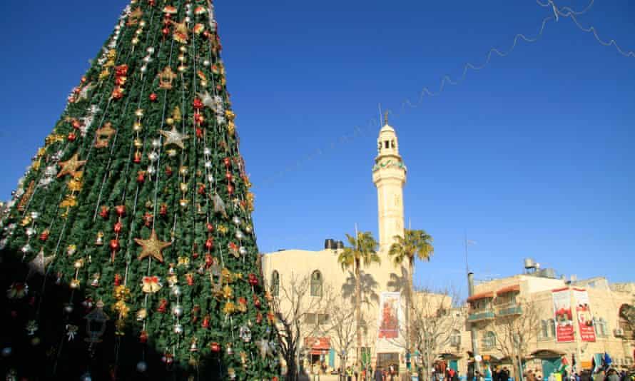 Christmas time in Bethlehem's Manger Square.