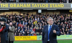 Graham Taylor opening his stand at Vicarage Road in 2014.