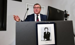 European Research Group member Mark Francois addresses the Bruges Group in London on Tuesday.