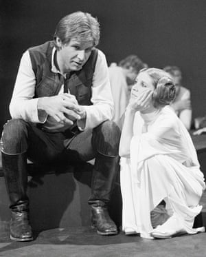 Actors Harrison Ford and Carrie Fisher. in November 1978, while making CBS TV special The Star Wars Holiday