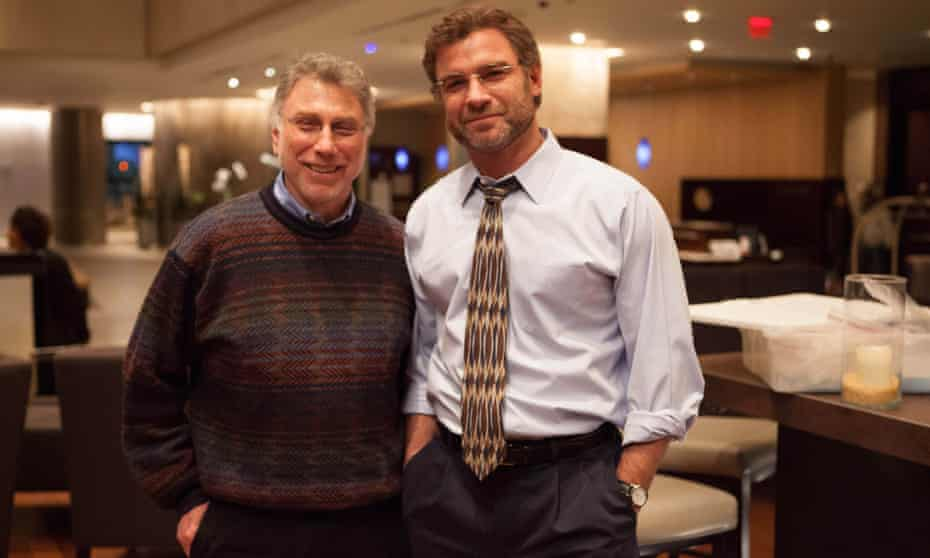 Marty Baron with Liev Schreiber, who played him in the 2015 film Spotlight.