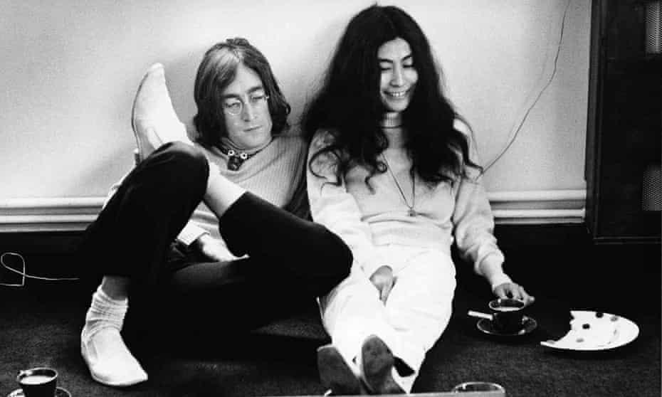 John Lennon and Yoko Ono in 1968.
