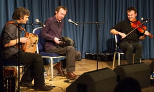 Andy Cutting, Sam Sweeney and Rob Harbron of Leveret, at Celtic Connections, Glasgow.