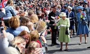 Queen Elizabeth II meets the public