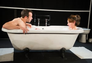 Keir Charles and an 'electric' Waller-Bridge in Mydidae by Jack Thorne at Soho theatre in 2012. The play, set in a couple's bathroom, was directed by Vicky Jones. She and Waller-Bridge founded a theatre company, DryWrite, in 2007.