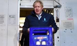 Boris Johnson, fisherman, builder, baker, now milkman.