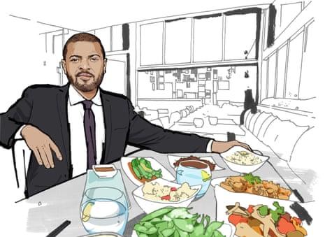 OFM Lunch With Noel Clarke illustration