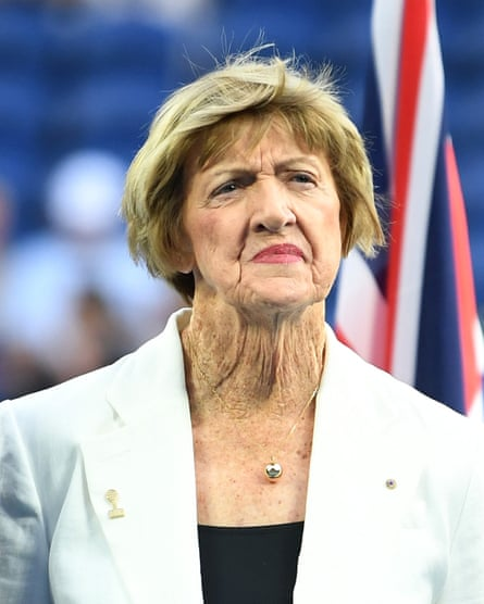 Margaret Court during a Tennis Hall of Fame ceremony on day nine of the Australian Open.