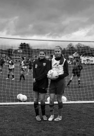 Nell Evans (left) and Molly Jardine of Cardiff Corinthians girls' team