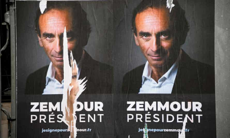 Posters featuring glowering Zemmour