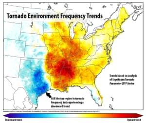 Tornado frequency trends.