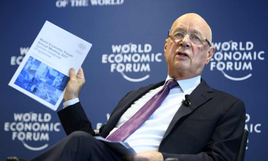 Klaus Schwab, founder and president of the WEF, unveiling this year's programme.