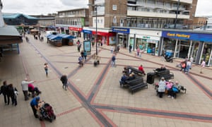 Corby town centre. More residents inquire about loans than in any other town in the UK.