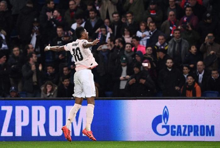 a1a24e2d9 Paris Saint-Germain 1-3 Manchester United (3-3 agg)  Champions League – as  it happened