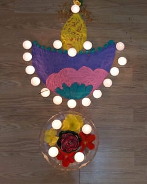 Rangoli-Diya Covid Gen: Artwork Sanjana for Amelia Hill story