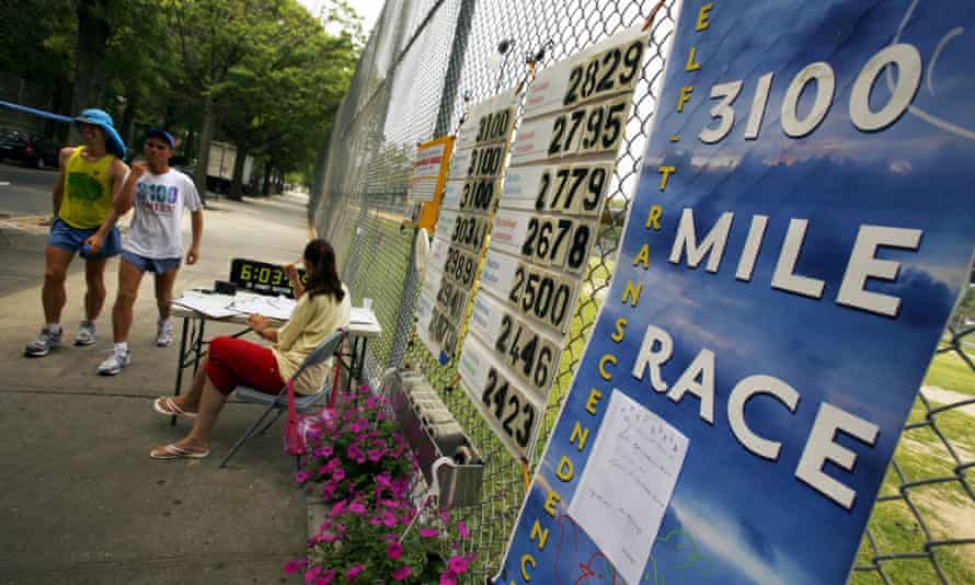 How far? ... runners in the Sri Chinmoy 3100 in Queens, New York city – the longest footrace in the world.