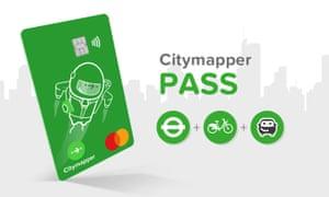The Citymapper Pass contactless card