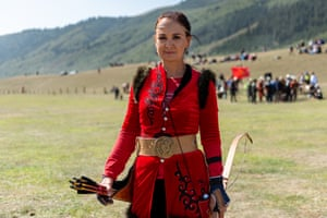Saadat Beisheeva, a traditional archer from Kyrgyzstan