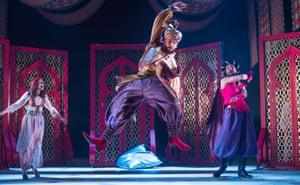 Rehanna Macdonald, Nick Karimi and Nebli Basani in The Arabian Nights.