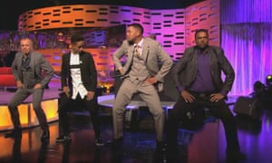Seminal moments … Will and Jaden Smith with DJ Jazzy Jeff and Alfonso Ribeiro on The Graham Norton Show.