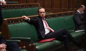 Matt Hancock in the Commons on Tuesday.