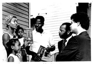 John Lewis and Julian Bond during a voter mobilization tour of Mississippi in 1971. During the time that Lewis worked with the Voter Education Program, four million minorities registered to vote.