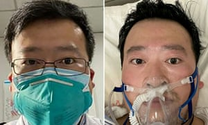 The Chinese ophthalmologist Li Wenliang died from the coronavirus on February 7. His early warnings about the outbreak were suppressed by the police