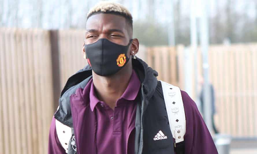Paul Pogba heads to Manchester airport for the flight to Germany where United face RB Leipzig in Tuesday's decisive Champions League group game.