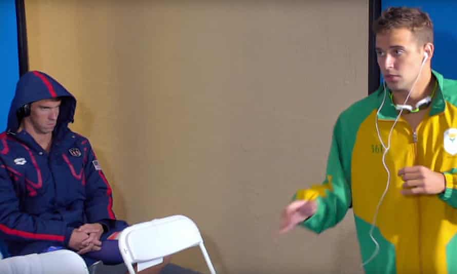 Michael Phelps was not impressed with Chad LeClos' pre-race routine