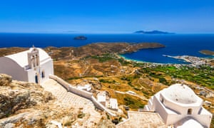Hilltop churches offer a classic Cyclades vista.