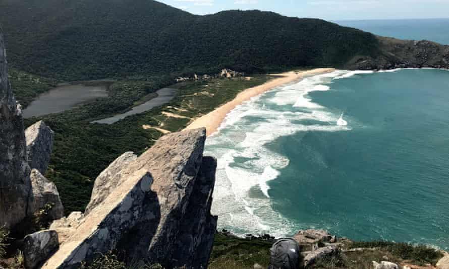 Lagoinha do Leste Morro da Coroa, one of the Brazilian landmarks whose Wikipedia entry was edited.