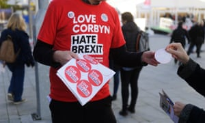 A 'Love Corbyn, Hate Brexit' T-shirt from last year's conference
