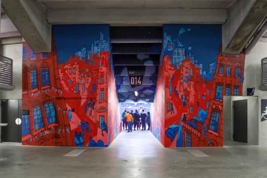 The Offside Gallery inside the stadium.