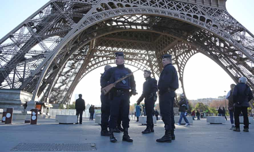 Police patrolling the Eiffel Tower. 'EU countries need realise that we are failing to deal with radicalisation.'