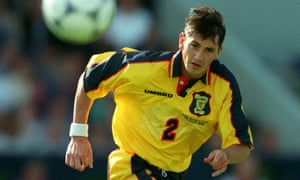 Jackie McNamara, pictured in action for Scotland in 1988, played over 250 times for Celtic.