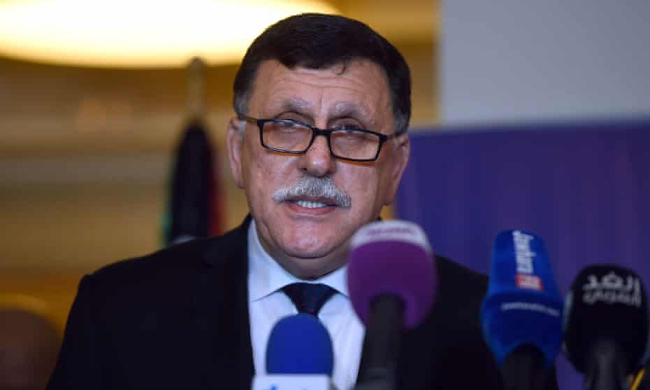 Libyan PM Fayez Sarraj, whose government is the result of more than a year of mediation by the UN.