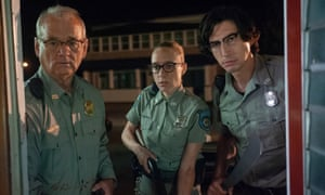 from left, Bill Murray, Chloë Sevigny and Adam Driver in Jim Jarmusch's The Dead Don't Die.