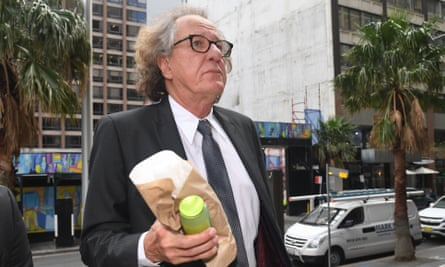 Australian actor Geoffrey Rush has strenuously denied allegations he behaved inappropriately towards a female colleague.