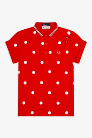 Fred loves AmyFred Perry continue to work with the Amy Winehouse Foundation, and the spring collection is inspired by her pin-up style. Each piece, like this polka-dot polo, is signed with two embroidered red hearts above the laurel logo. £75, fredperry.com