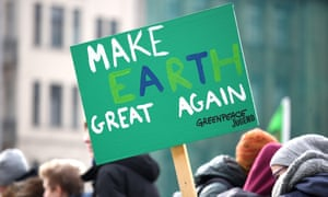 A protest sign at a climate march in Germany
