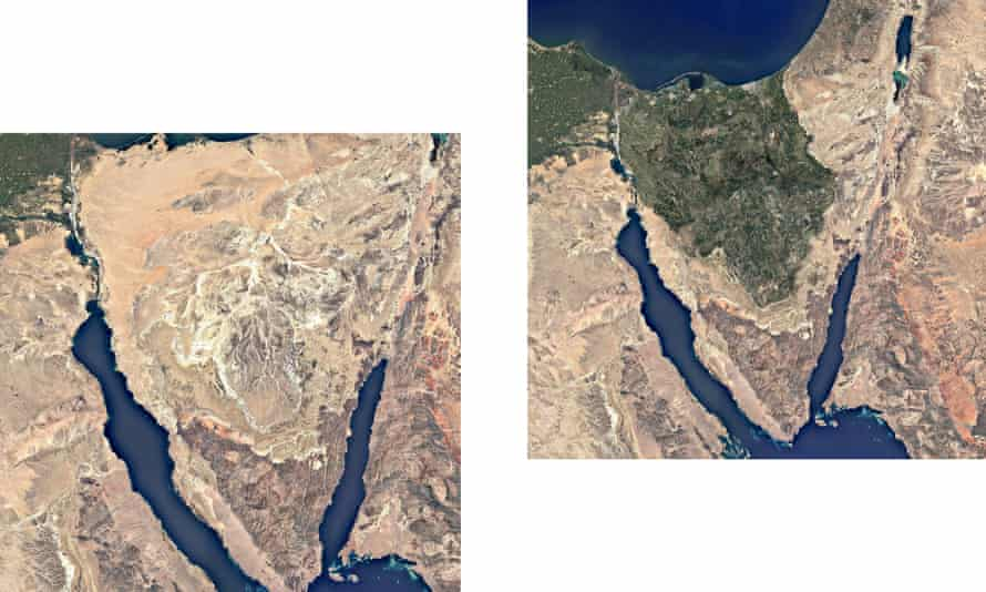 The Sinai peninsula today, and how it could look after regreening.