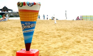 A Cornetto on a beach