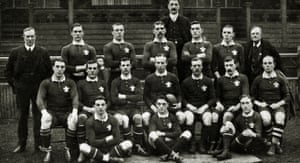 The Wales team 16th December 1905.